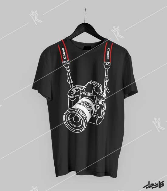 تیشرت مشکی دوربین