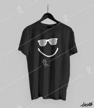 تیشرت مشکی لبخند تابستانی