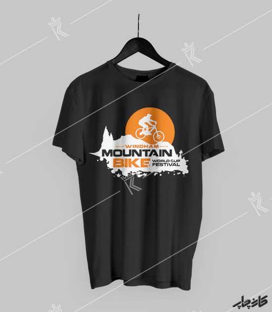 تیشرت مشکی دوچرخه سواری کوهستان Mountain Bike 2