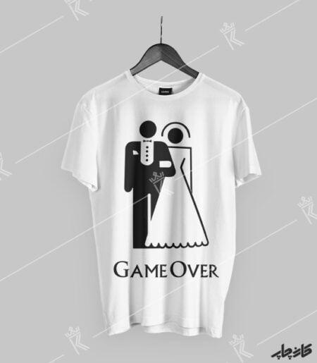 تیشرت طرح Game Over