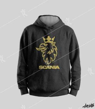 سویشرت مشکی لوگو اسکانیا عقاب Scania