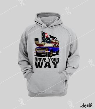 سویشرت ملانژ جیپ آفرود Drive Your Way USA