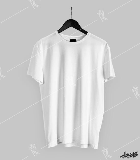 تیشرت سفید (اسپان) کارن چاپ