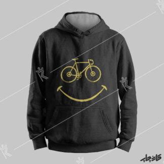سویشرت نخ پنبه مشکی لبخند دوچرخه