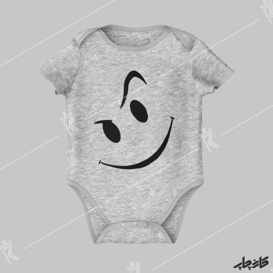 چاپ روی بادی زیر دکمه طرح لبخند