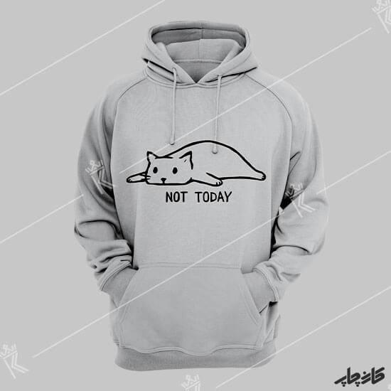 چاپ روی هودی گربه خسته