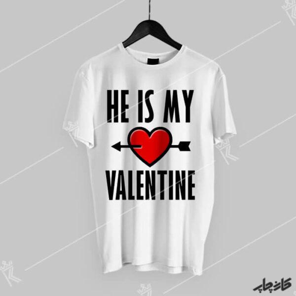 خرید تیشرت او ولنتاین من است