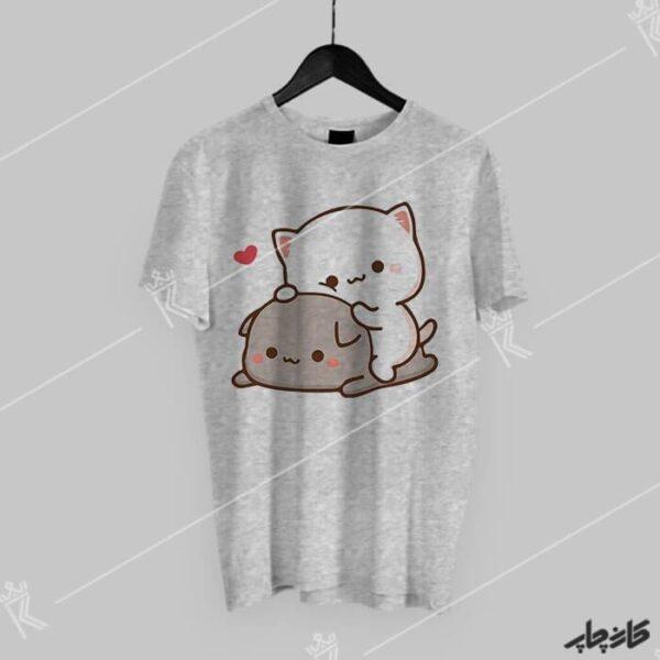 خرید تی شرت گربه های با مزه هلو و گوما peach and goma
